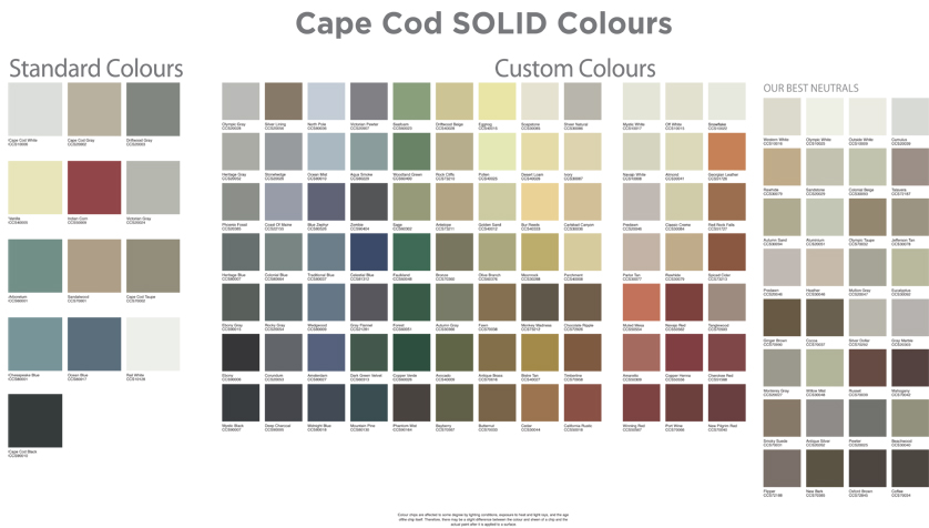 Cape Cod Colours