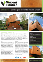 Western Red Cedar Case Study - London Glass and Timber houses