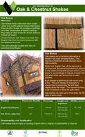 Oak and Chestnut Shakes Product Brochure