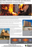 Specifiers Beware of Density Specifications for Fire Retardant Treated Timbers
