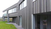 Cape Cod Cladding. 3 Grey Colour House. Profile: ex 150mm Euro Channel. Colours: CCS72218, CCS72217 & CCS72216