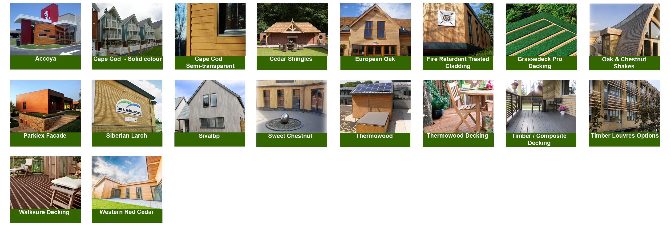 Timber Cladding From Vincent Timber Cladding Division